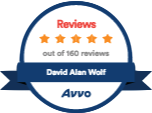 Avvo Reviews out of 160 Reviews David Alan Wolf
