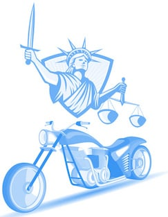 Statue of Liberty with Motorcycle